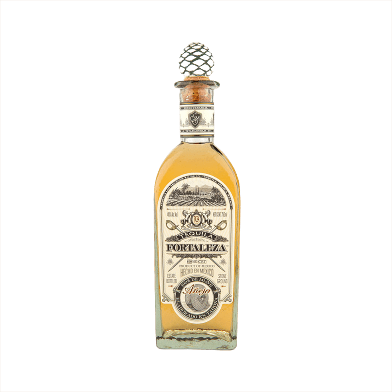 Bottle of Fortaleza Tequila Añejo