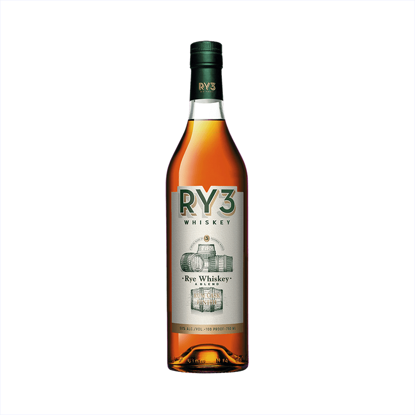 Bottle of RY3 Whiskey Rum Cask Finish