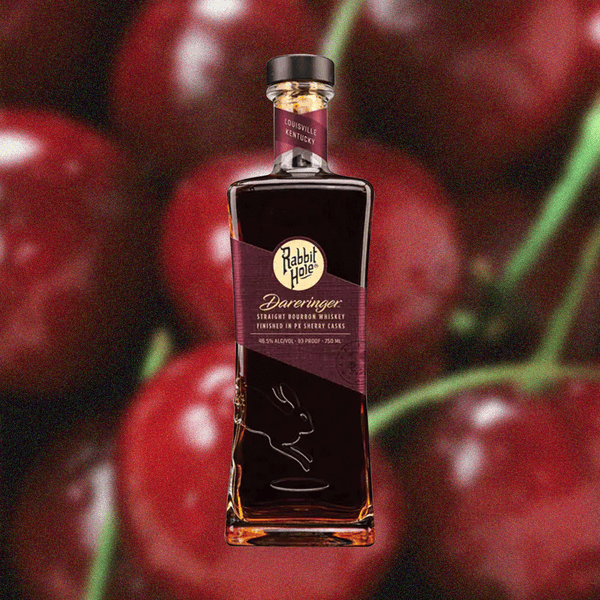 Bottle image of Rabbit Hole Dareringer Bourbon and cherries