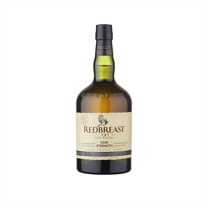 Bottle of Redbreast 12 Year Cask Strength Irish Whiskey.