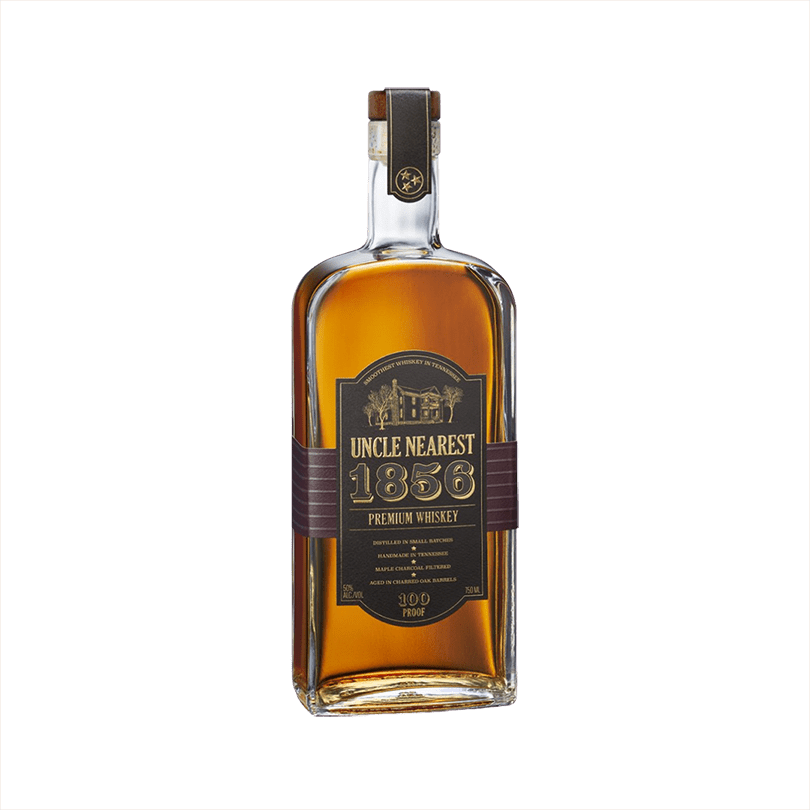 Bottle of Uncle Nearest 1856 Premium Aged Whiskey