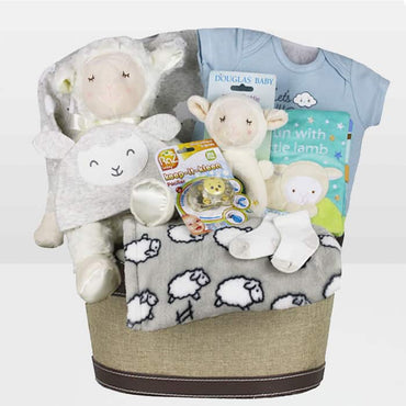 Baby Boy Fun Lamb Basket
