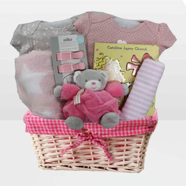 Kaloo Raspberry Bear Gift Basket