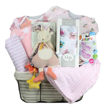 Moulin Roty  Girl Gift Basket, 6-9 Months, 12 Pieces