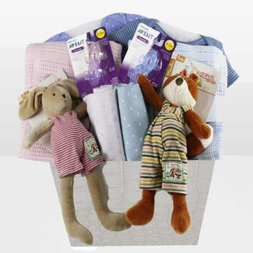 Moulin Roty Twins Boy & Girl Basket
