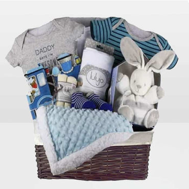 Train Book Baby Boy Gift Basket