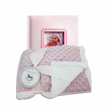 Baby Girl Album and Blanket