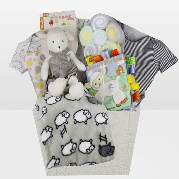 Neutral Moulin Roty Lamb - Baby Gifties