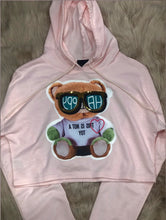 "Load image into Gallery viewer, ""Not a toy"" crop hoodie"