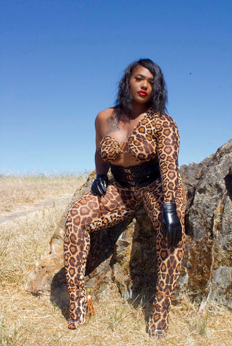 In the jungle catsuit