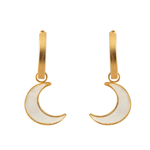 MOON O.M.L. EARRINGS / MOTHER PEARL