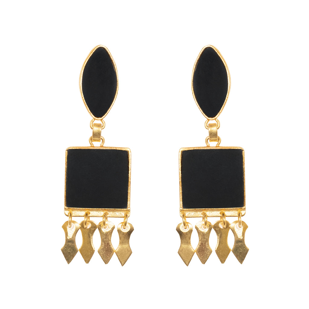 Amira Earrings Black Onyx