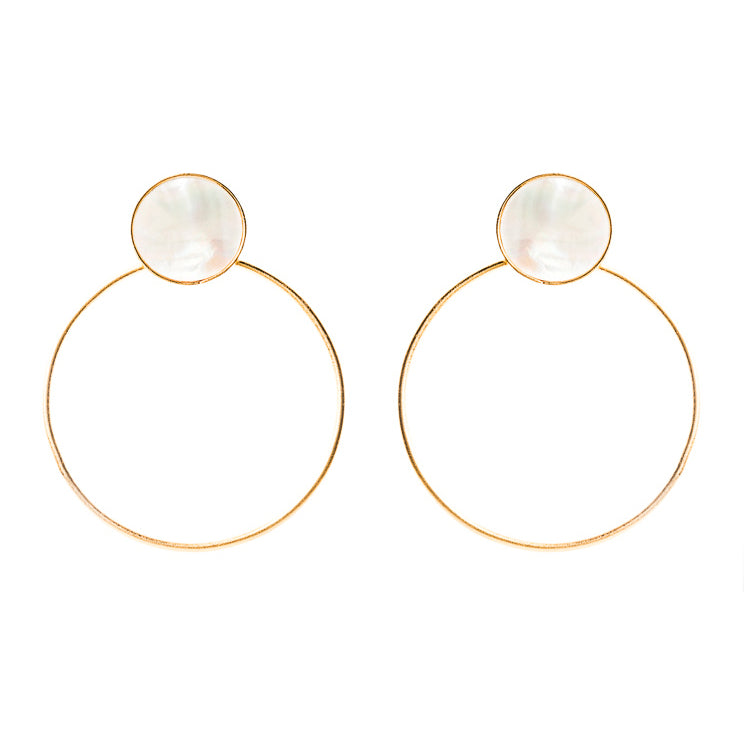 Kan Earrings / Mother Pearl