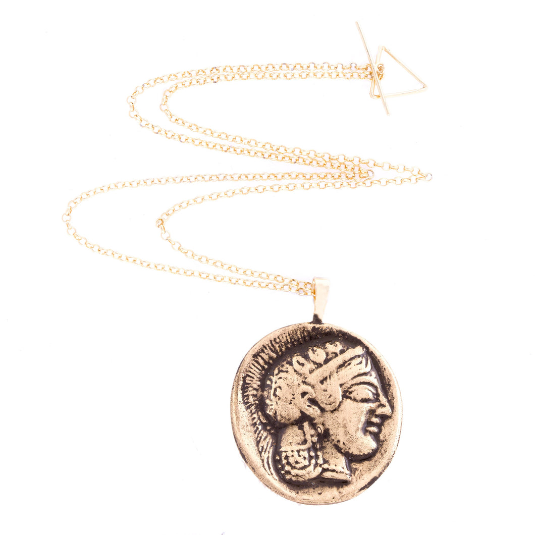 Greek Coin Necklace - Athena