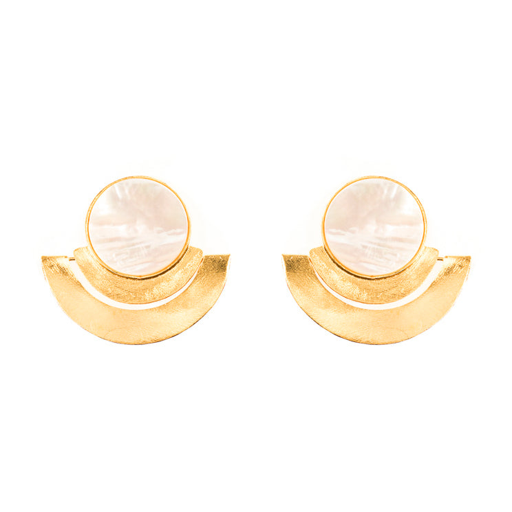 Milla Earrings / Mother pearl