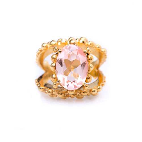 Spheres ring / Morganite