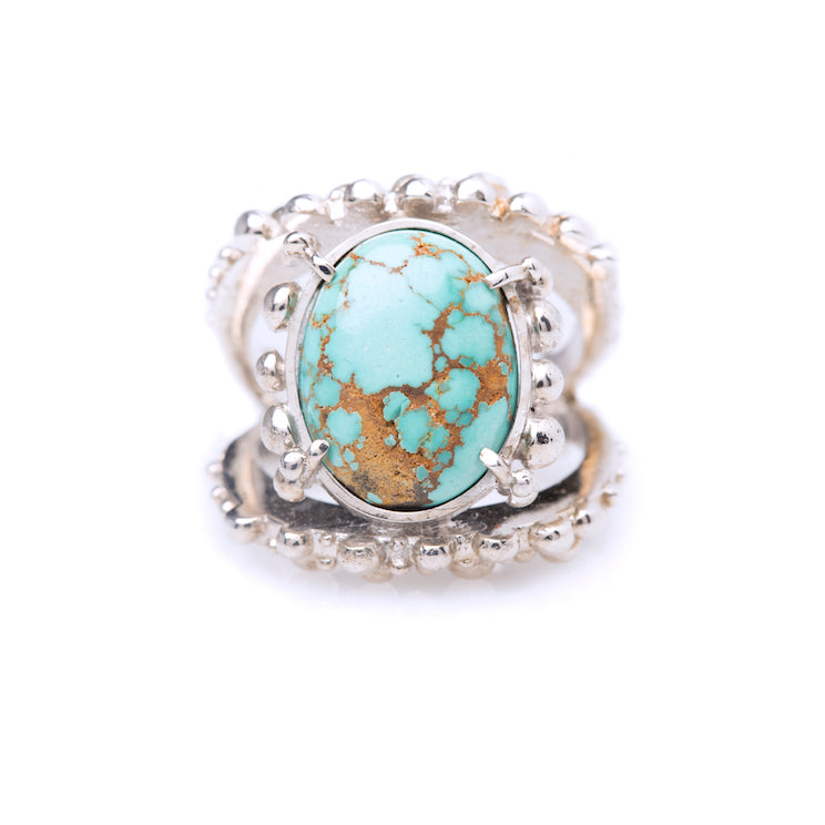 Spheres ring / Fox Turquoise