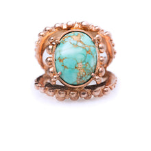 Load image into Gallery viewer, Spheres ring / Fox Turquoise