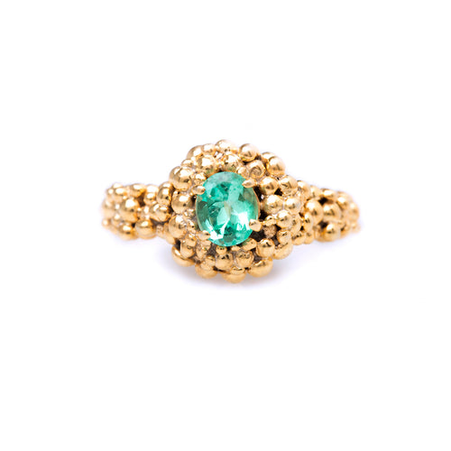 Spheres ring / Round Emerald