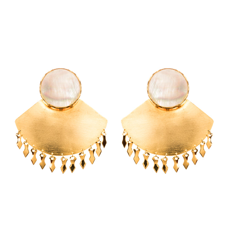 EK Earrings / Mother Pearl
