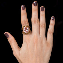 Load image into Gallery viewer, Spheres ring / Morganite