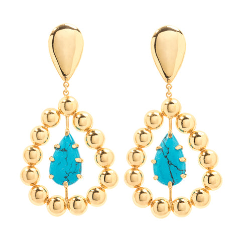 Leem earrings with turquoise