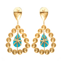 Load image into Gallery viewer, Leem earrings with turquoise