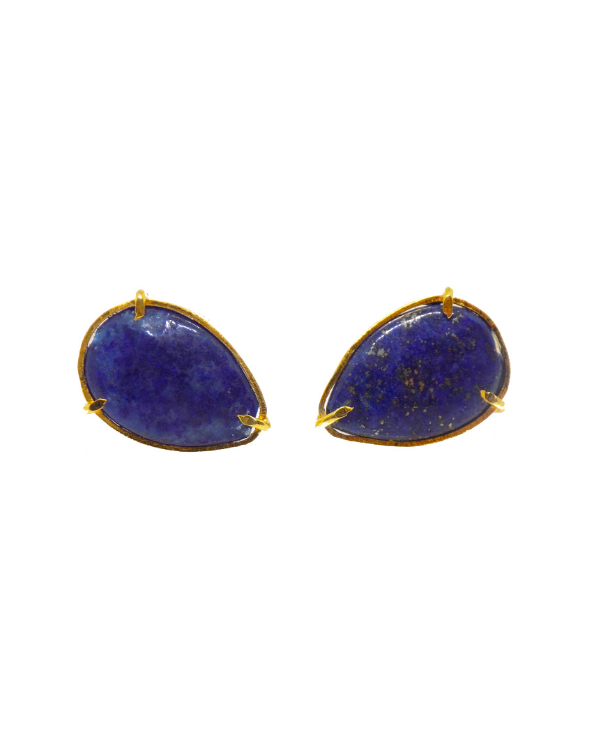 Shams Earrings / lapis lazuli
