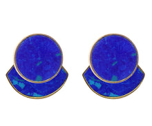 Load image into Gallery viewer, KUDA Damasco Earrings / Azurite