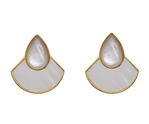 KUDA Teardrop Earrings / Mother Pearl