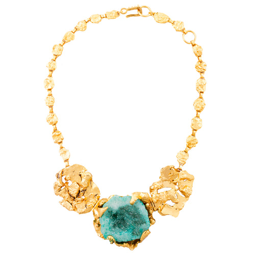 Kaff Necklace / Green Agatha