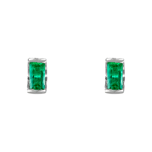 Baby Emerald Cut Earrings