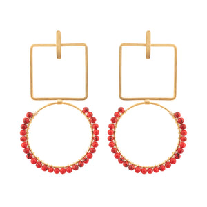 RUBY EARRINGS / CORAL
