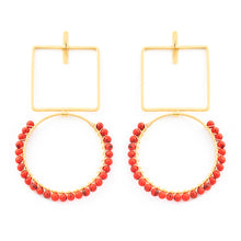 Load image into Gallery viewer, RUBY EARRINGS / CORAL