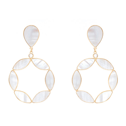 Nahomy Earrings Mother Pearl