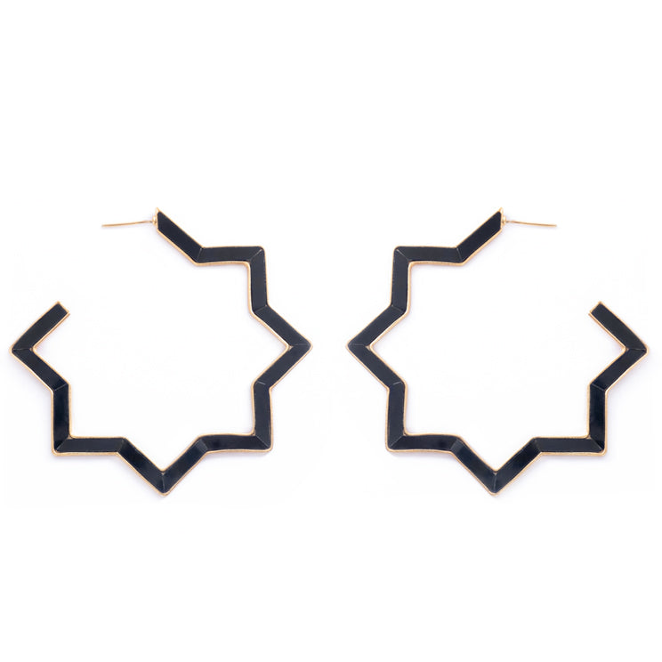 Hadid Earrings Black Onyx
