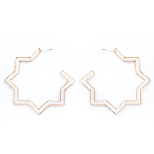 Hadid Earrings Mother Pearl