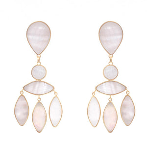 Zara Earrings Mother Pearl