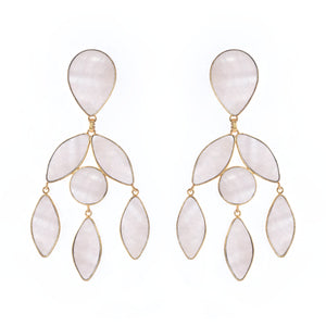 Mansour Earrings Mother Pearl