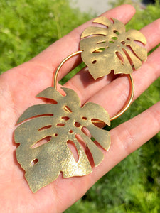 DOUBLE SPLIT LEAF EARRINGS