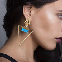 Load image into Gallery viewer, Kudna Earrings / Turquoise