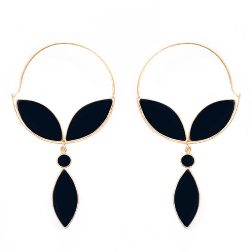 Alhya Earrings Black Onyx