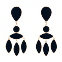 Load image into Gallery viewer, Zara Earrings Onyx