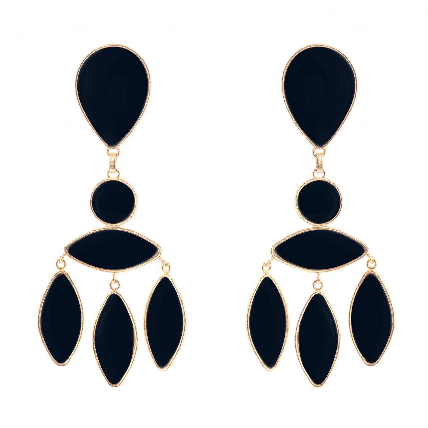 Zara Earrings Onyx