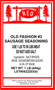 Old Fashion #3 Sausage Seasoning