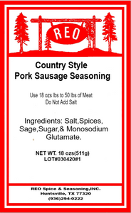 Country Style Sausage Seasoning
