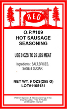 Load image into Gallery viewer, OP #109 Sausage Seasoning (Spicy)