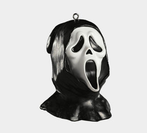 Ghost Face Head/Mask Ornament