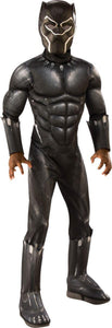 Child - Boy's Deluxe Muscle Black Panther Costume
