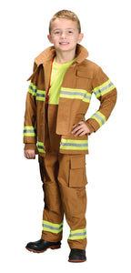 Child - Fire Fighter Costume - Tan